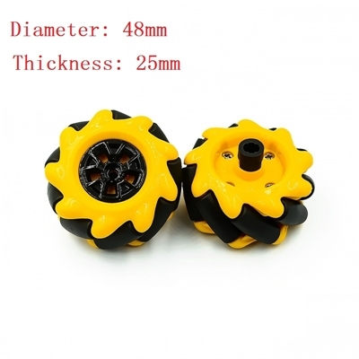 Wheels Omnidirectional Wheels 48mm TT A Pair