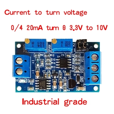 Current To Voltage Module 0 / 4-20mA To 0-3.3V5V