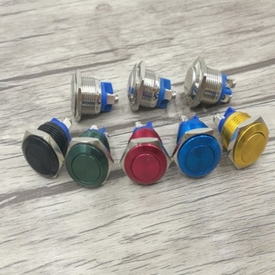 16MM metal button switch reset button - Green color