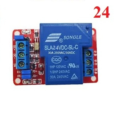 30A -24Vdc relay module with optocoupler