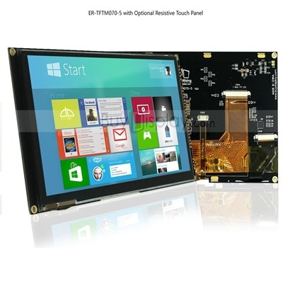 7 inch LCD Module Resistive Touch Screen