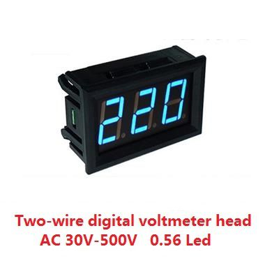 Digital voltmeter AC 30V-500V  0.56 Led Blue