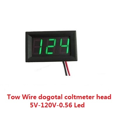 Digital voltmeter DC 5V-120V-0.56 Led Green