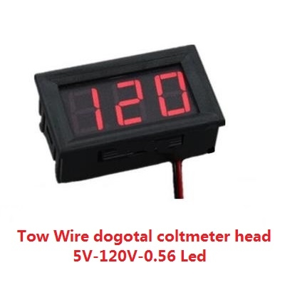 Digital voltmeter DC 5V-120V-0.56 Led Red