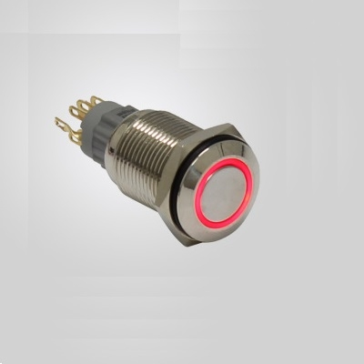 PWS-1 Button switch 16mm 12V Red