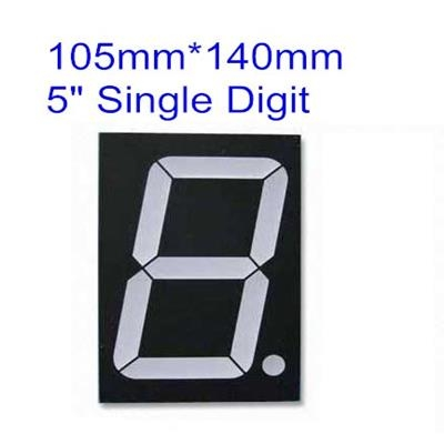 RED LED single 1 digit 5 inch