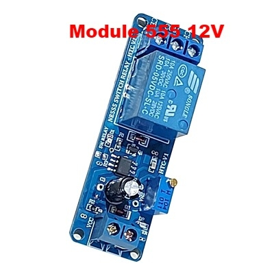 Delay Timer NE555  Switch Relay HTC 12V