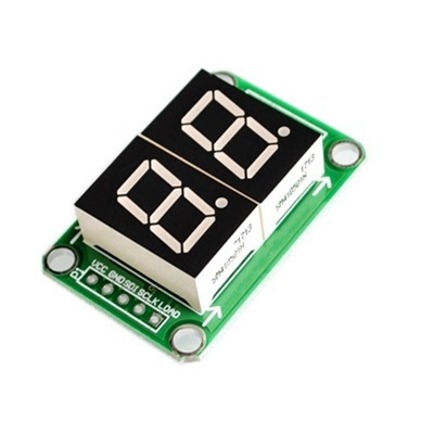 LED Display Module 2 Digital 74HC595 tube
