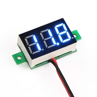 DC digital voltmeter 0.36-inch LED blue 2 wire