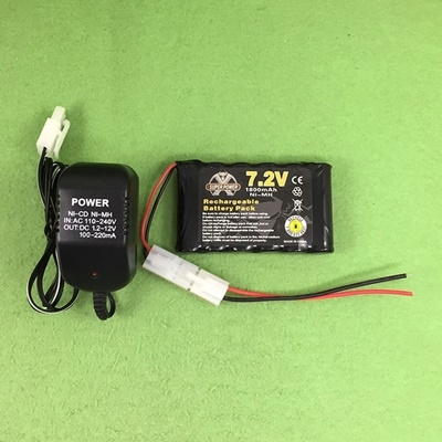 Robot car rechargeable battery 7.2V 1800MA