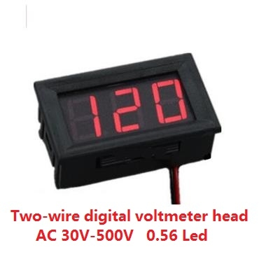 Digital voltmeter AC 30V-500V  0.56 Led Red