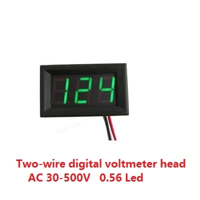Digital voltmeter AC 30V-500V  0.56 Led Green