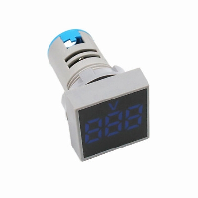 AC 20-500V LED Digital Voltmeter 22MM BLue