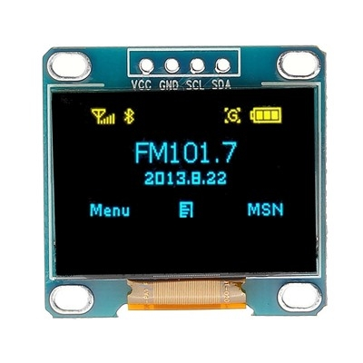 0.96 Inch 4Pin Blue I2C OLED Display