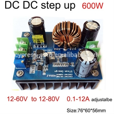 Step Up Module DC In 10-60 Out 12-80V-12A