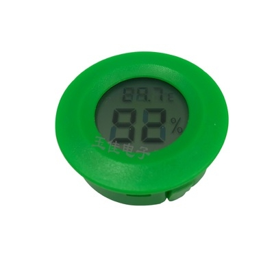Mini Digital Electronic Hygrometer Round Green