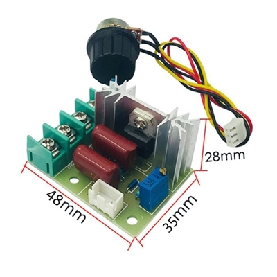 2000w thyristor dimmer electronic voltage VR