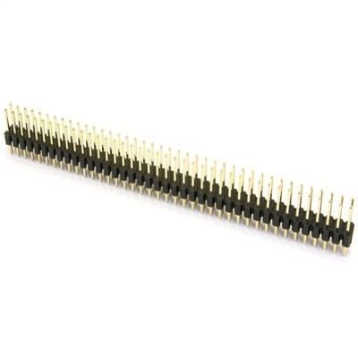2x40 Pin Male Header, 2.54mm