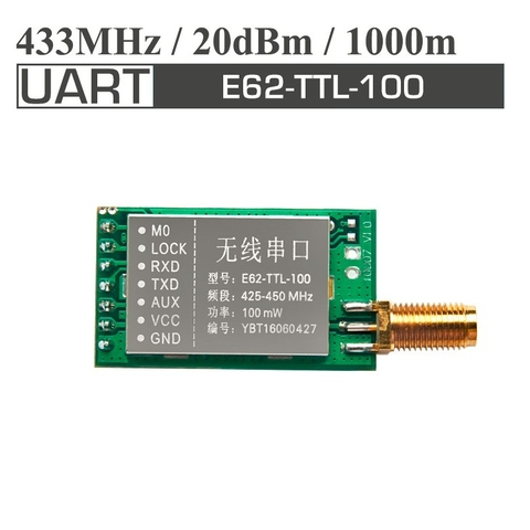 Wireless Transceiver Module 433MHz E62-TTL-100