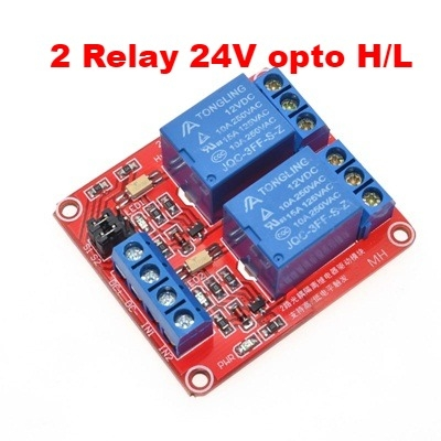 Module 2 Relay 24V opto high and low
