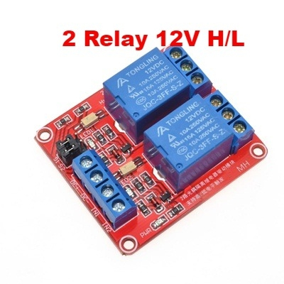 Module 2 Relay 12V opto high and low trigger
