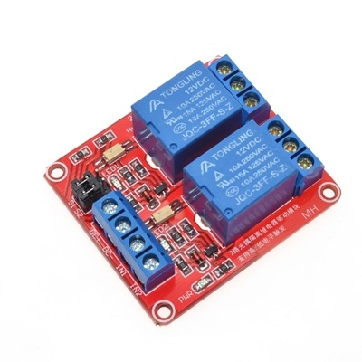Module 2 Relay 5V opto high and low level dual trigger