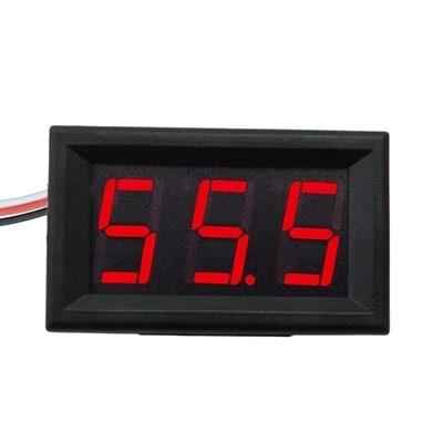 DIGITAL VOLTMETER 0-200V Red