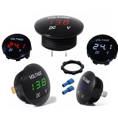 DIGITAL VOLTMETER 5-48V Red