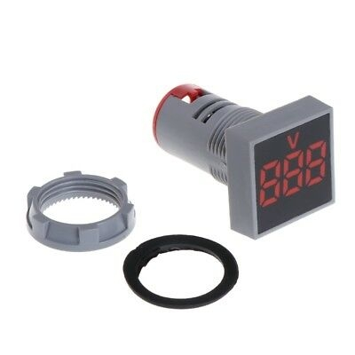 AC 20-500V LED Digital Voltmeter 22MM Red