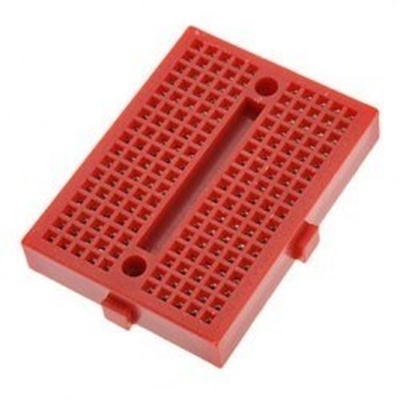 Red mini breadboard