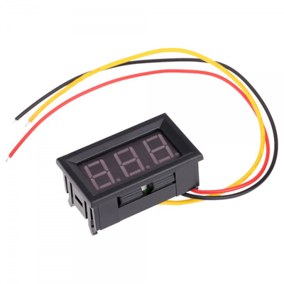 Three wire voltmeter digital DC0-99.9V LED  Blue