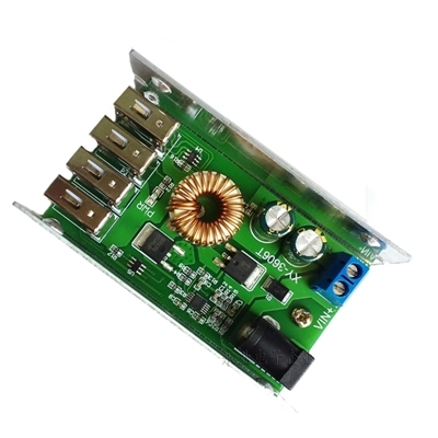 DC-DC Step-Down 4 USB port 9-36V to 5V