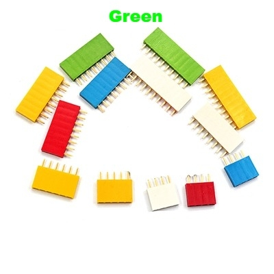Straight Female Single Row 1*6 Pin Green