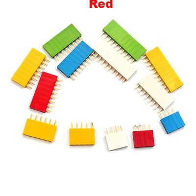 Straight Female Single Row 1*6 Pin Red