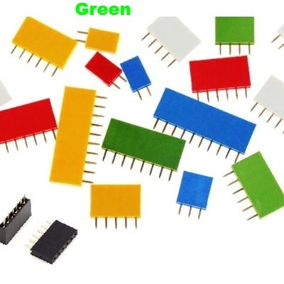 Straight Female Single Row 1*5 Pin Green