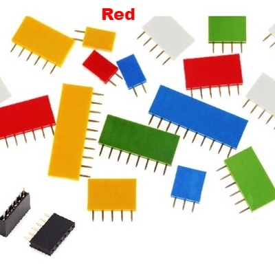 Straight Female Single Row 1*5 Pin Red