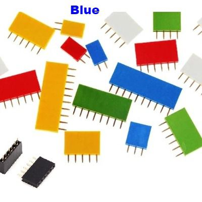 Straight Female Single Row 1*5 Pin Blue