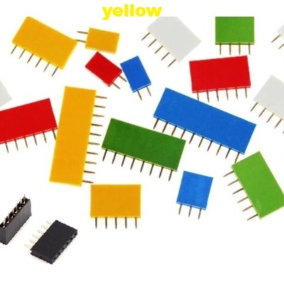 Straight Female Single Row 1*5 Pin Yellow
