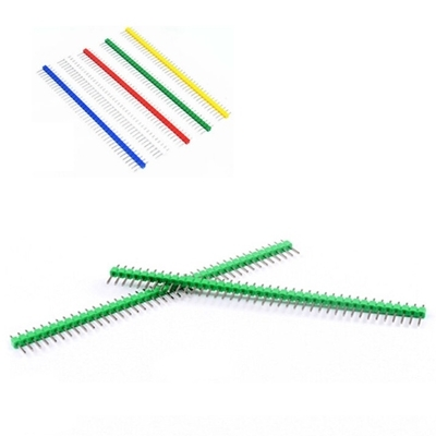 1x40 Pin 2.54mm DIP Straight Green color