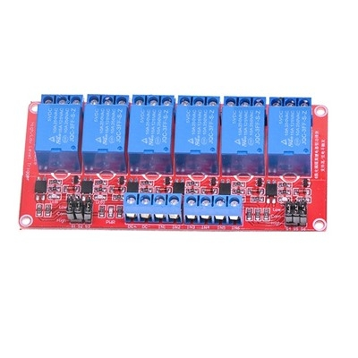 Module 6 Relay 12V opto high and low level