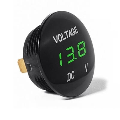 DIGITAL VOLTMETER 5-48V Green