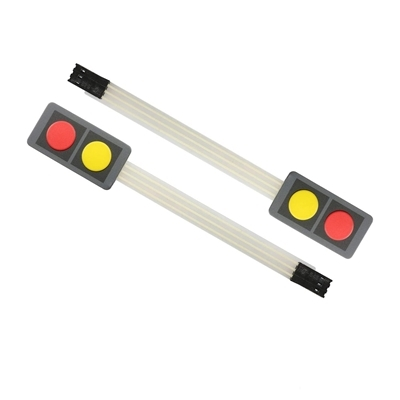 2 Key Button Membrane Red - Yellow