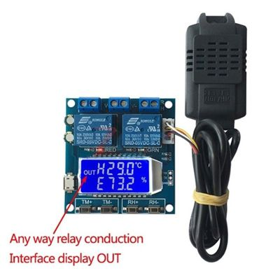 SHT20 Humidity Temperature LCD Display Relay