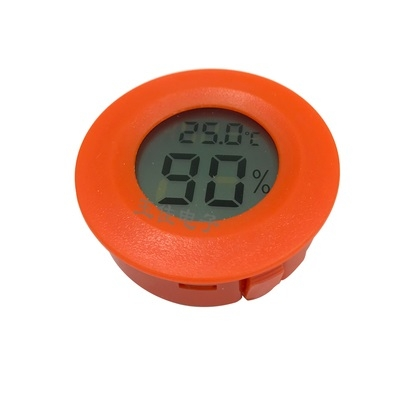 Mini Digital Electronic Hygrometer Round Red