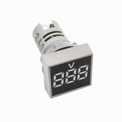 AC 60-500V LED Digital Voltmeter 22MM White