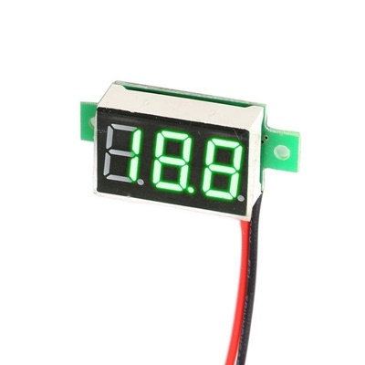 DC digital voltmeter 0.36-inch LED green 2 wire