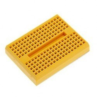 Yellow mini breadboard
