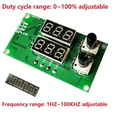 PWM pulse frequency duty cycle adjustable  1HZ~100KHZ