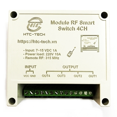 Module HTC RF Smart Switch 4 Relay - Box XU24