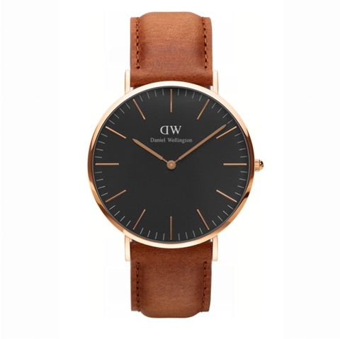 DANIEL WELLINGTON CLASSIC BLACK DURHAM DW00100126 ROSE GOLD